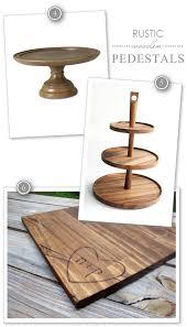 Rustic Wooden Cake Pedestals