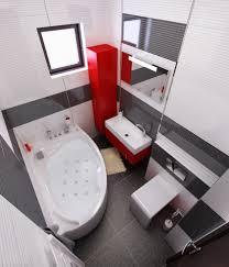 bilder 3d interieur badezimmer rot schwarz baie glass 3