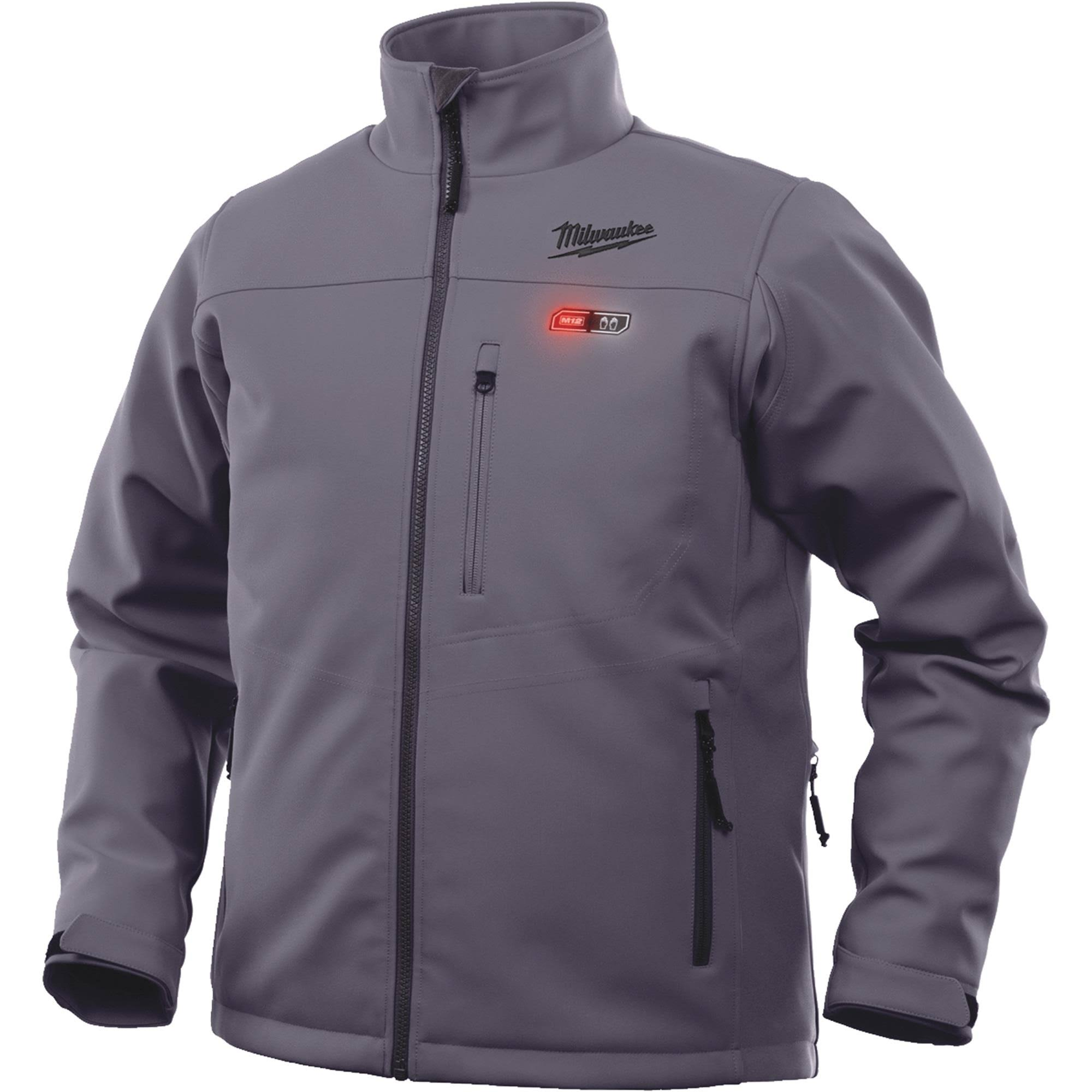 Milwaukee 201G-212X M12 Gray Heated Jacket Kit - 2XL