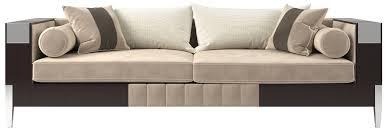 casa padrino luxus deco samt sofa beige dunkelbraun silber 257 x 84 x h 83 cm edles wohnzimmer sofa luxus qualität deco möbel