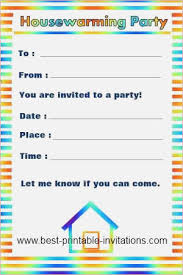 Printable House Warming Invitations