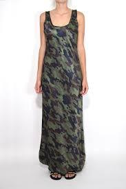 long tank dress in dark green camo