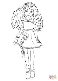 Largest Disney Descendants 2 Coloring Pages Evie From Wicked World