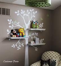 Love this shelving tree idea Wall Decals Baby Nursery Decor