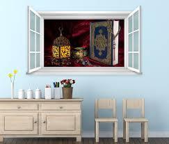 3d wandtattoo fenster türkei koran buch wand aufkleber wanddurchbruch wandbild wohnzimmer 11bd1733 wandtattoos und leinwandbilder günstig