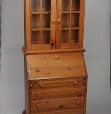 Drop Front Secretary Desk by Broyhill Knotty Pine Drop Front Secretary With Bookcase Ebth