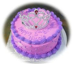 """Pink and Purple princess cake 8"""" round cake using the diamond impression"""