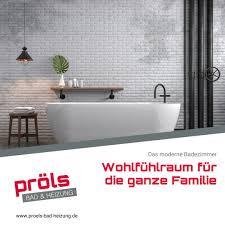 das moderne badezimmer ist ein pröls bad heizung