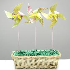 Place The Pinwheels In Basket And Fill With Filler I Used Green Construction My Paper Shredder To Make