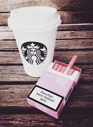 Wallpapers Starbucks Coffee And Cigarette We Heart It