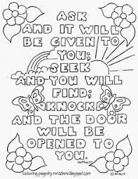 Bible Verse Matthew 77 Coloring Page See More At My Blog