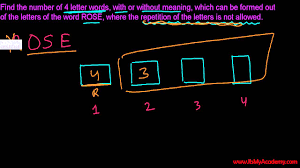 Permutations & binations Tutorials Total Ways to Write 4 Letter