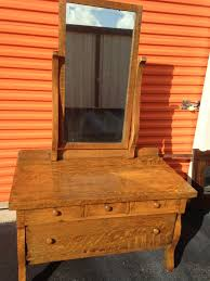 antique tiger oak dresser w beveled mirror furniture home by