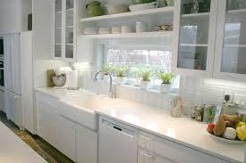 contemporary white subway tile kitchen home design ideas