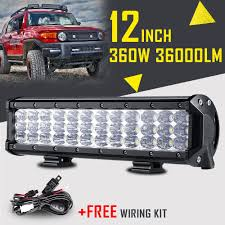 7D TRI-ROW 12INCH 360W CREE LED LIGHT BAR SPOT FLOOD OFFROAD COMBO ... Truck Lite Led Spot Light With Ingrated Mount 81711 Trucklite Work Light Bar 4x4 Offroad Atv Truck Quad Flood Lamp 8 36w 12x Work Lights Bar Flood Offroad Vehicle Car Lamp 24w Automotive Led Lens Fog For How To Install Your Own Driving Offroad 9 Inch 185w 6000k Hid 72w Nilight 2pcs 65 36w Off Road 5 72w Roof Rigid Industries D2 Pro Flush Mount 1513 180w 13500lm 60 Led Work Light Bar Off Road Jeep Suv Ute Mine 10w Roundsquare Spotflood Beam For Motorcycle
