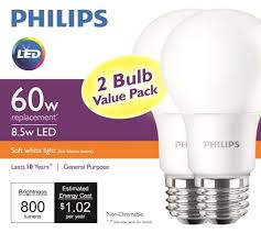 led light bulb 60w and tcp 60 watt equivalent daylight 5000k a19