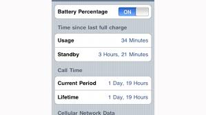 Show battery life as a percentage rather than icon Apple iPhone