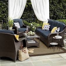Ty Pennington Patio Furniture Parkside by Grand Resort Summerfield 4 Pc Seating Set Denim Limited