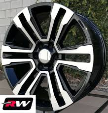 100 20 Inch Truck Rims Inch RW 17 18 Denali Wheels For Chevy Machined Black