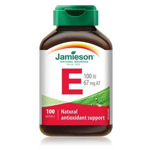 Jamieson Vitamin E Natural Antioxidant Support Dietary Supplement - 100ct