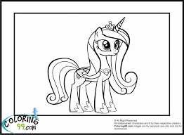 My Little Pony Princess Cadence Coloring Pages 8