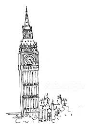 Beautiful View Of London Clock Tower Coloring Pages
