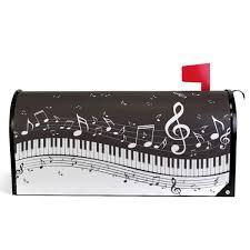 Amazoncom Wamika Simple Piano Keys And Musical Notes Mailbox