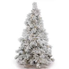 Vickerman Pre Lit 65 Flocked Alberta Artificial Christmas Tree With Cone LED Warm White Lights