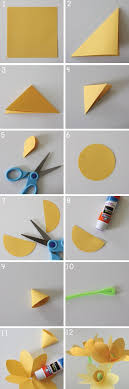 Spring Craft Make Paper Daffodils Made It Student Work Projects How To Step By