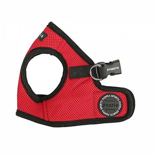 Puppia Soft Vest Dog Harness - Red, Medium