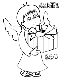 Detail Beautiful Angel Boy Coloring Pages For Preschoolers