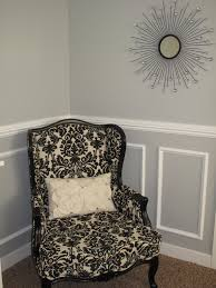 Two Tone Walls No Chair Rail by Little Miss Penny Wenny How To Install Chair Rail Moulding