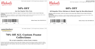 Michaels Coupons - 50% Off A Single Item At Michaels, Or