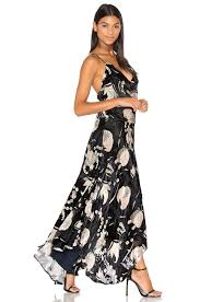 haute hippie the solitaire ruffled floral print chiffon and velvet