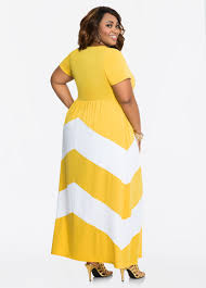plus size dresses chevron pattern cap sleeve maxi dress