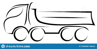 100 Truck Axles Dynamic Vector Illustration Of A European Tipper With Four