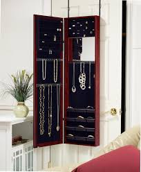 mirrored jewelry cabinet organizer med art home design posters
