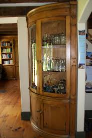 Curved Glass Curio Cabinet by Custom Curved Corner Curio Cabinet With Tempered Glass