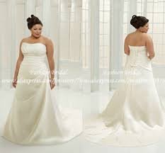 plus size bridal dress designers clothing for large ladies