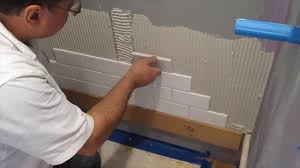 Tiling A Bathtub Alcove by Subway Tile Shower Install Time Lapse Youtube