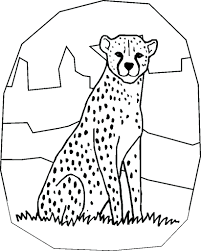 Cheetah Coloring Template Family Pages Print Printable