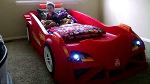 Kid POV Hot Wheels™ Toddler to Twin Race Car Bed™