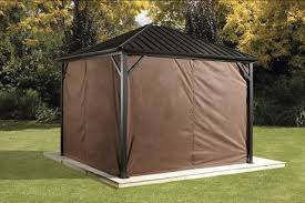 Outdoor Curtains Walmart Canada by Sojag Dakota Gazebo Privacy Curtains Walmart Canada
