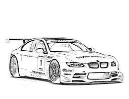 Race Car Color Pages