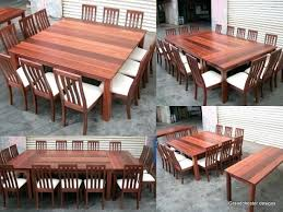 Large Dining Room Table Seats 12 Beautiful Extension Collection At From