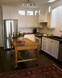kitchen simple varnished solid wood kitchen island shape u