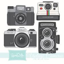 Vintage Cameras Clip Art