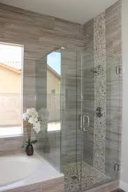 traditional master bathroom with drop in bathtub high ceiling in