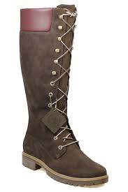 timberland 14 inch women u0027s dark brown leather knee high lace up