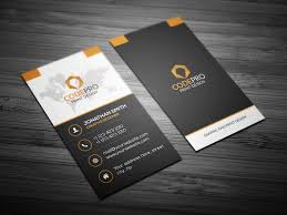 Modern Vertical Business Card Business Card Templates Creative